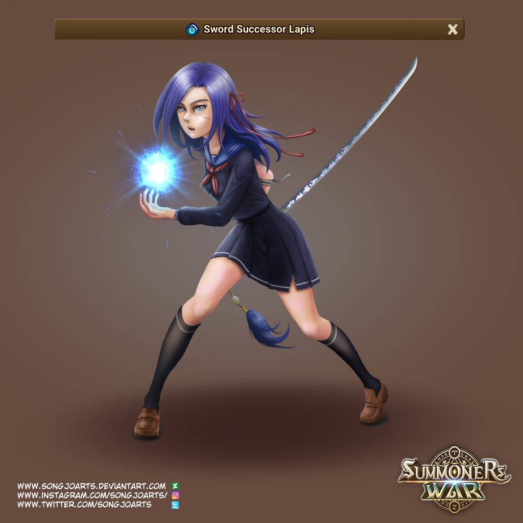 chibi summoners war deviantart anime sword www