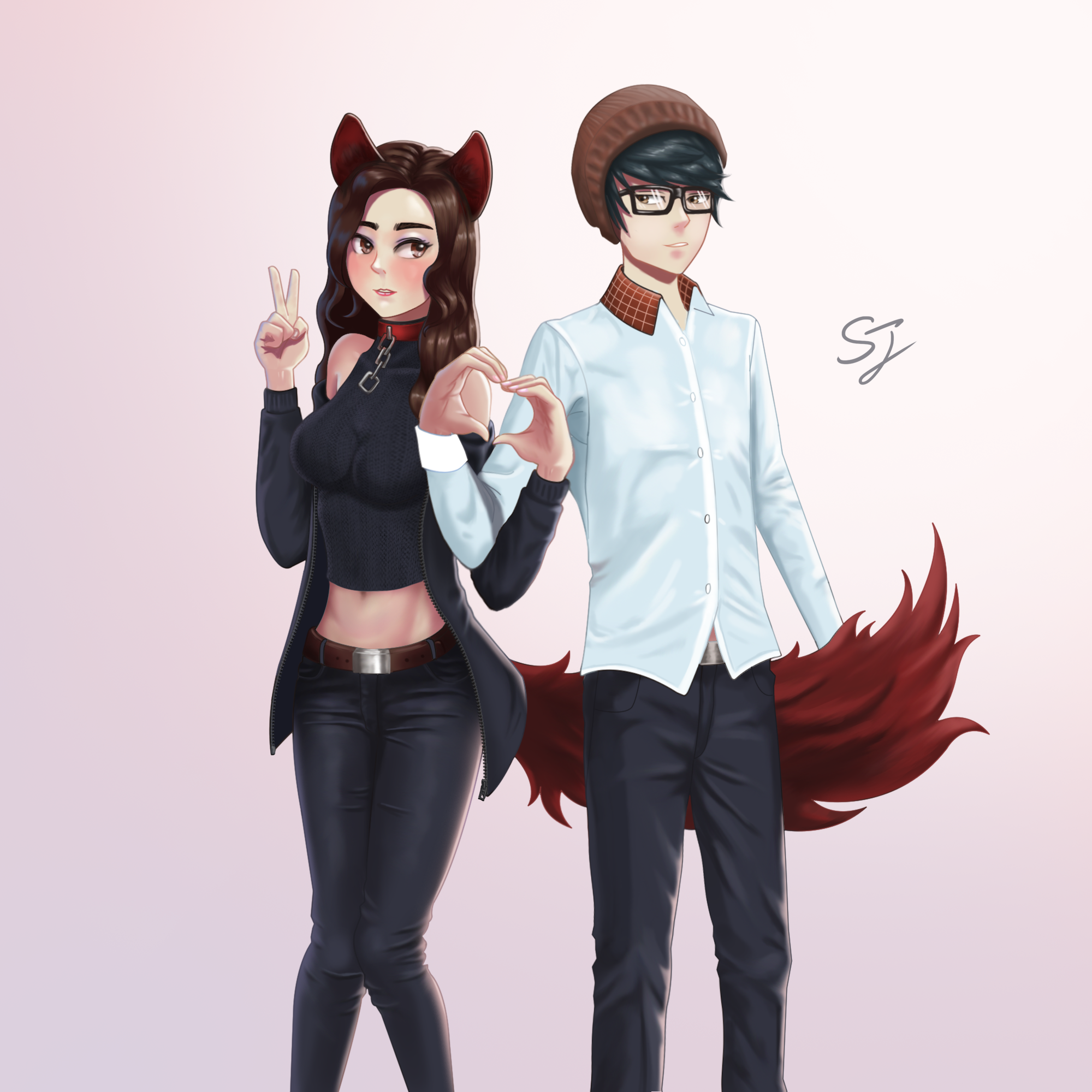 Commission vr chat avatar couple by songjoarts on deviantart for Deviantart vrchat avatars