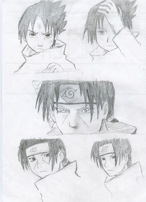 Croquis sasuke et itachi by mouchmouch on deviantart - Croquis naruto ...