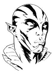 Abe Sapien sketch by tomcrielly