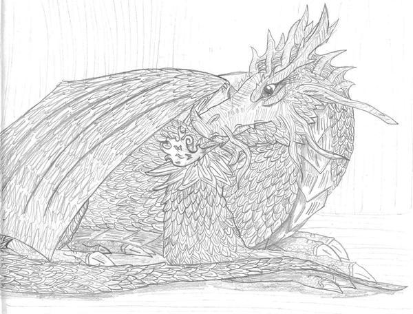dragon. by BlackDragonsChasm