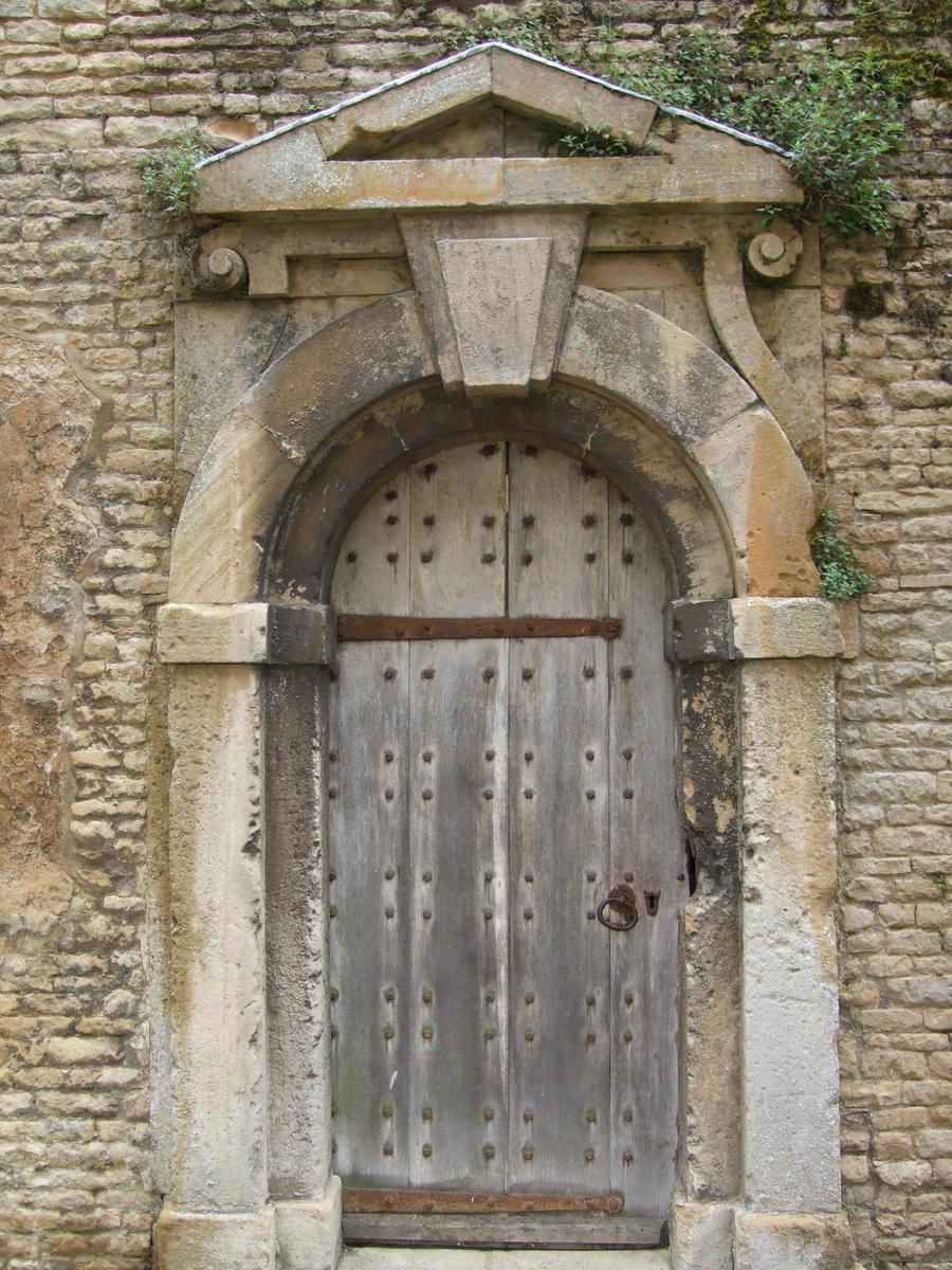 Old wooden door stone frame by skullscrystal on deviantart for Door of stone