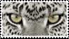 Snow Leapard Eyes Stamp by NamelessFeline