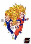 Goku SSJ3 and Vegeta SSJ3