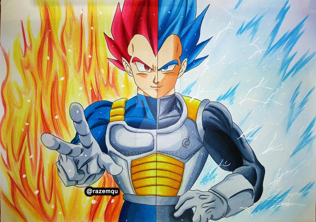 Vegeta super saiyan god super saiyan blue by razemqu on deviantart - Vegeta super sayen ...