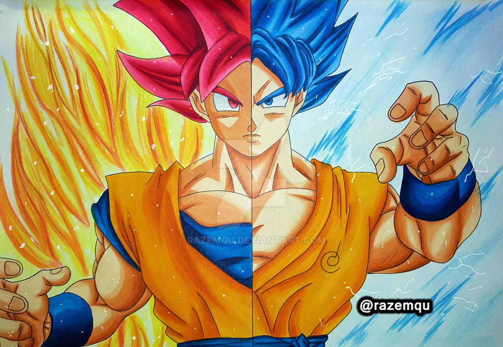 Goku saiyan god super saiyan blue by razemqu on deviantart - Foto goku super saiyan god ...