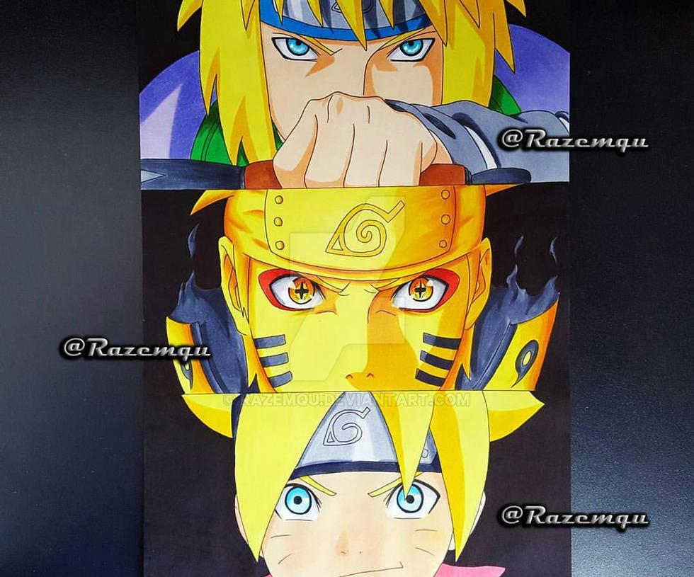 Minato Naruto Boruto Uzumaki by razemqu