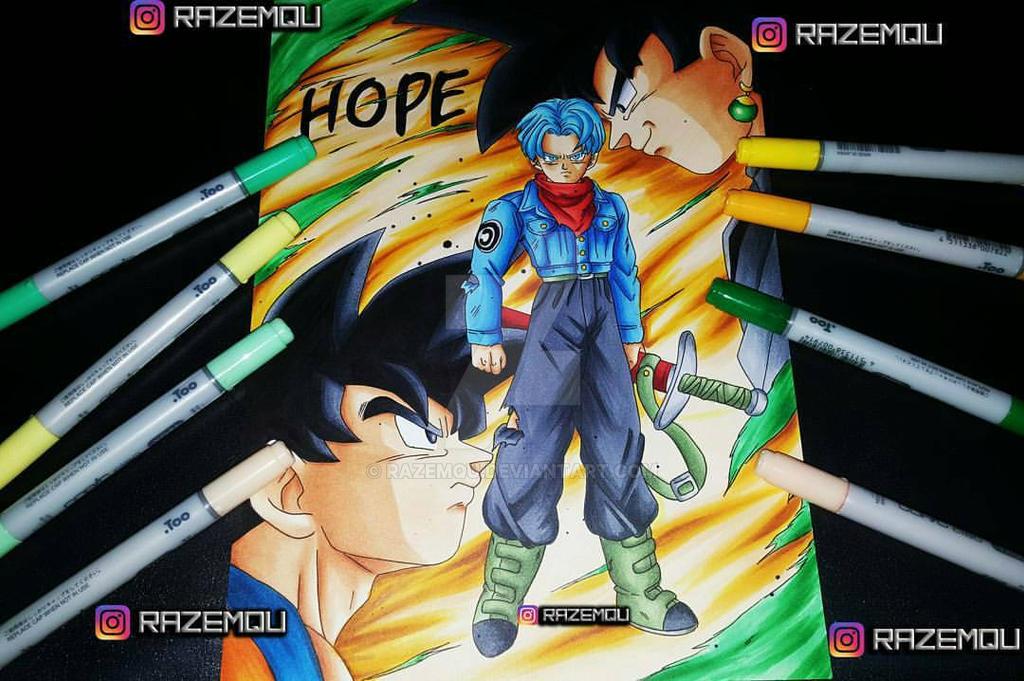 Black Goku vs Goku and Trunks by razemqu