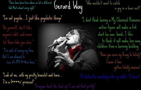 gerard way quotes. Gerard Way Quotes by