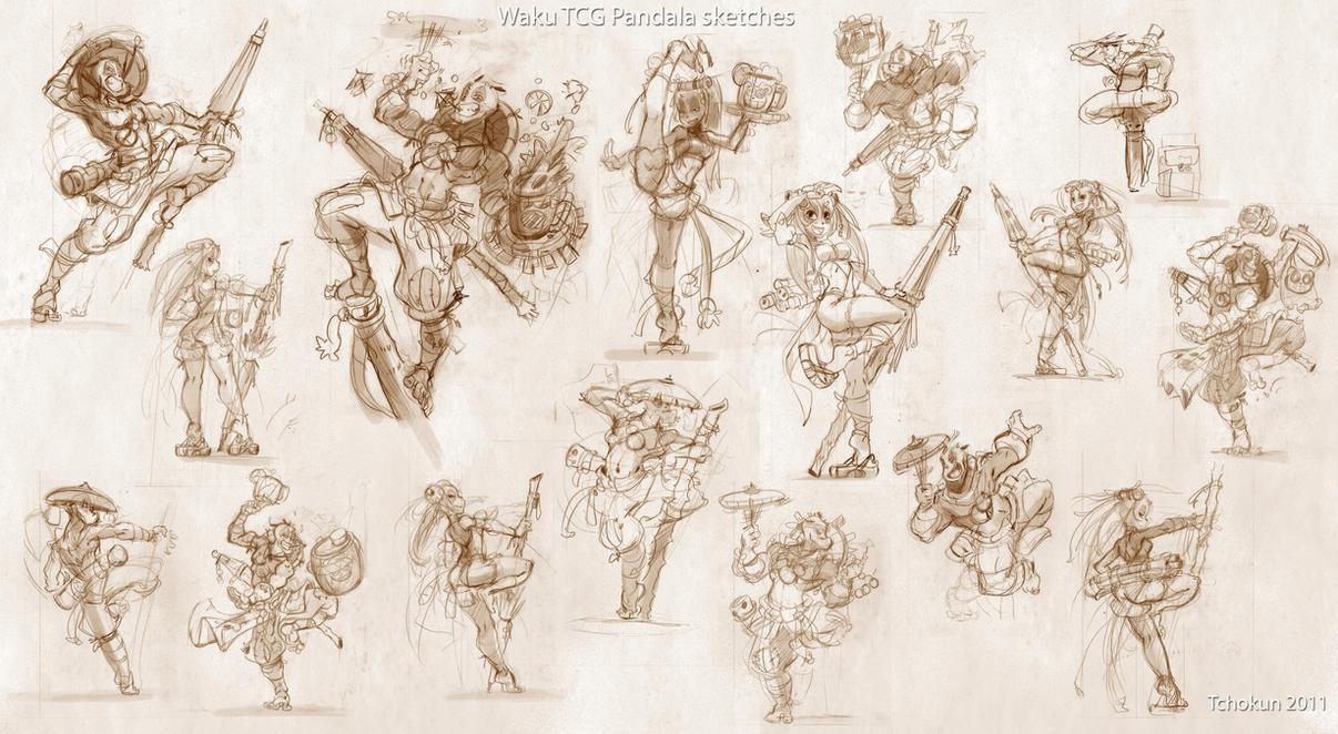 TCG PANDALA sketches by tchokun