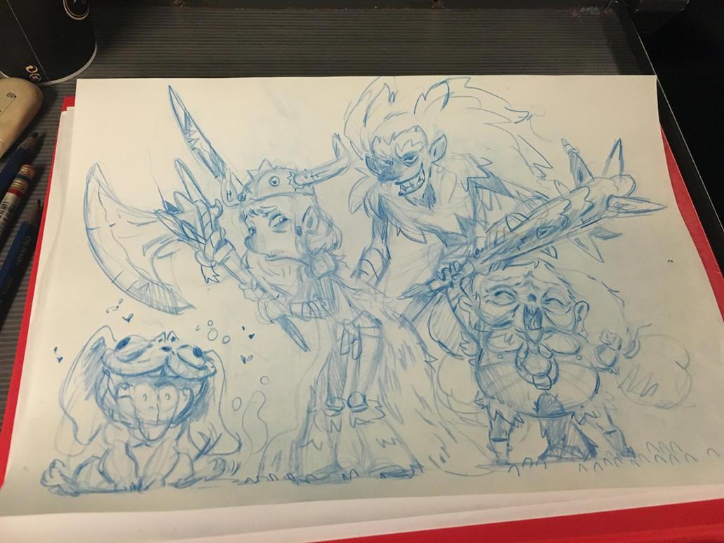 Viking doodles by tchokun