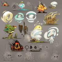 Cute Monsters elemets