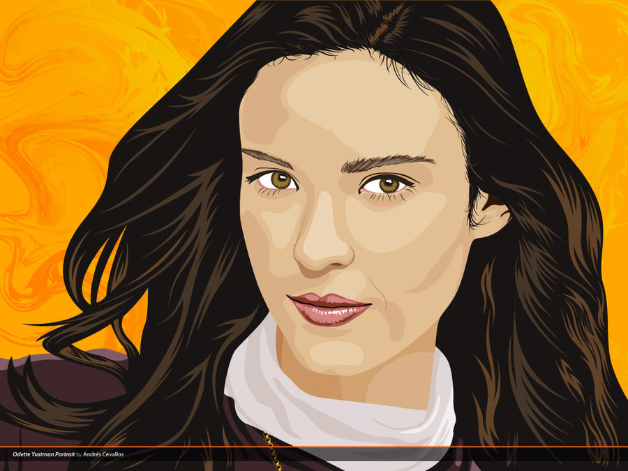 Odette Yustman Vector Portrait