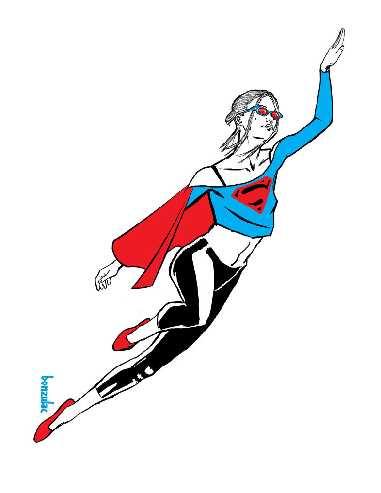 Bonus Pin-up: Supergirl! by Bonzulac