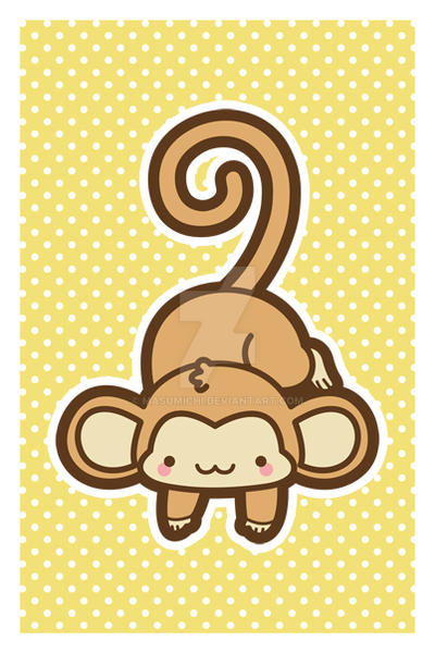 Hanging Monkey Postcard by MasumiChi