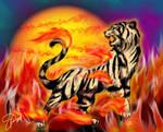 Byakko - Tiger of the Inferno