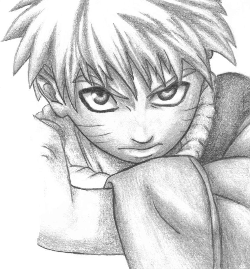 Naruto Drawing by denisanime on DeviantArt Gaara Crying