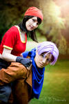 Trunks and Pan Dragonball GT Cosplay