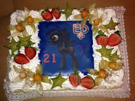 ED+ b-day cake by EDplus