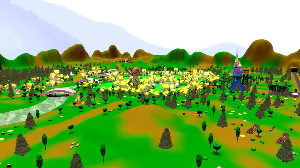 ED+ Ponyville map Final by EDplus on DeviantArt