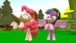 Pinkie Pie and Twilight Sparkle crazy
