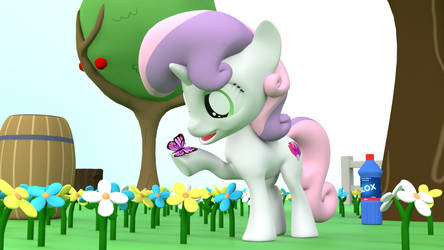 Sweetie Belle and Butterfly