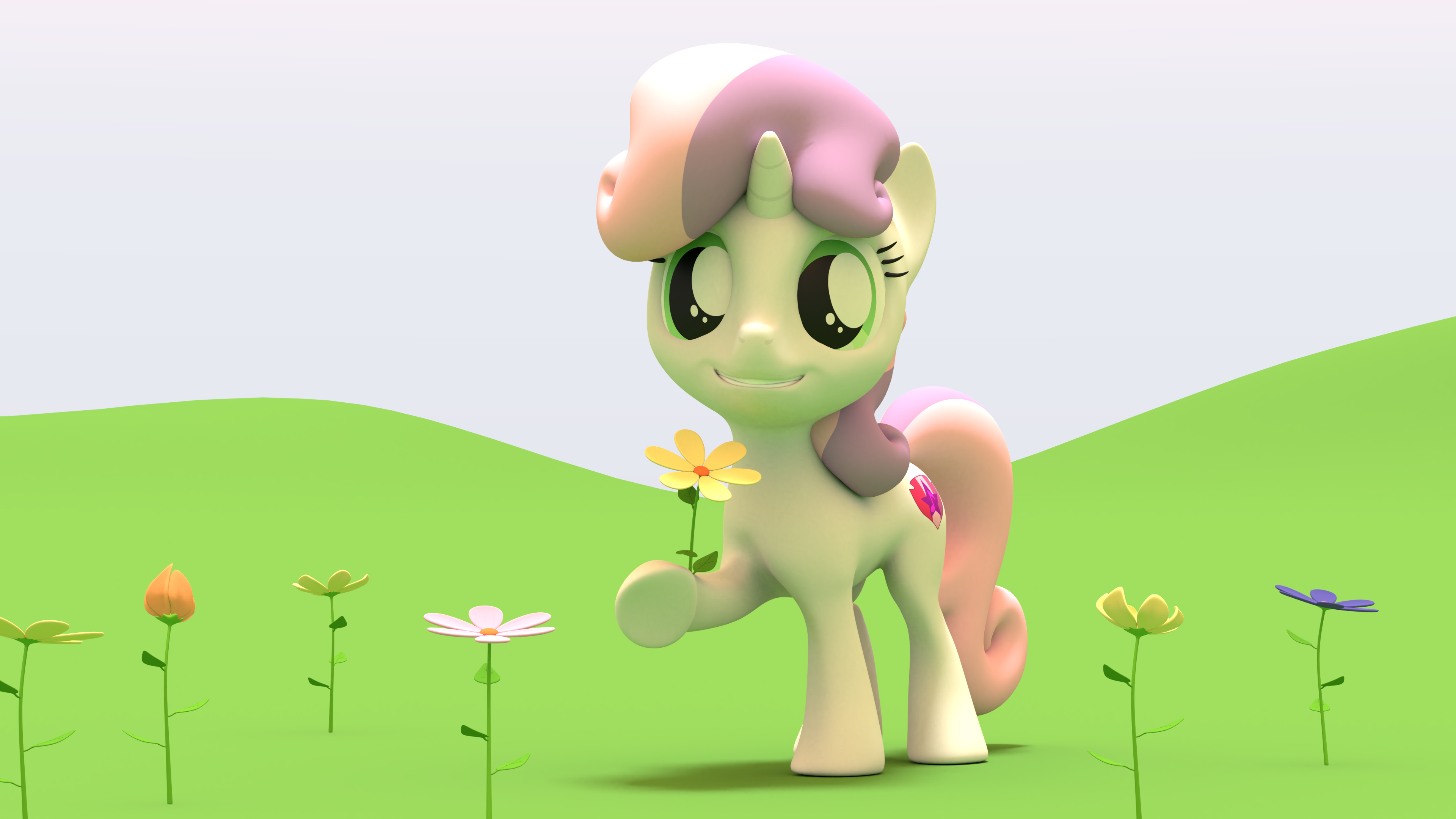 Sweetie Belle Flowers by EDplus