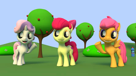 Cutie Mark Crusaders in blender