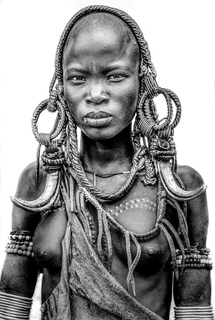 Mursi Girl Portrait by bad95killer