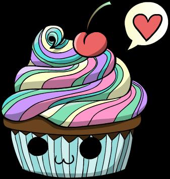 Rainbow cupcake by Hidden-Rainbows