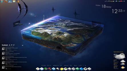 My desktop 2012 by k47ana