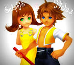 Selphie and Tidus