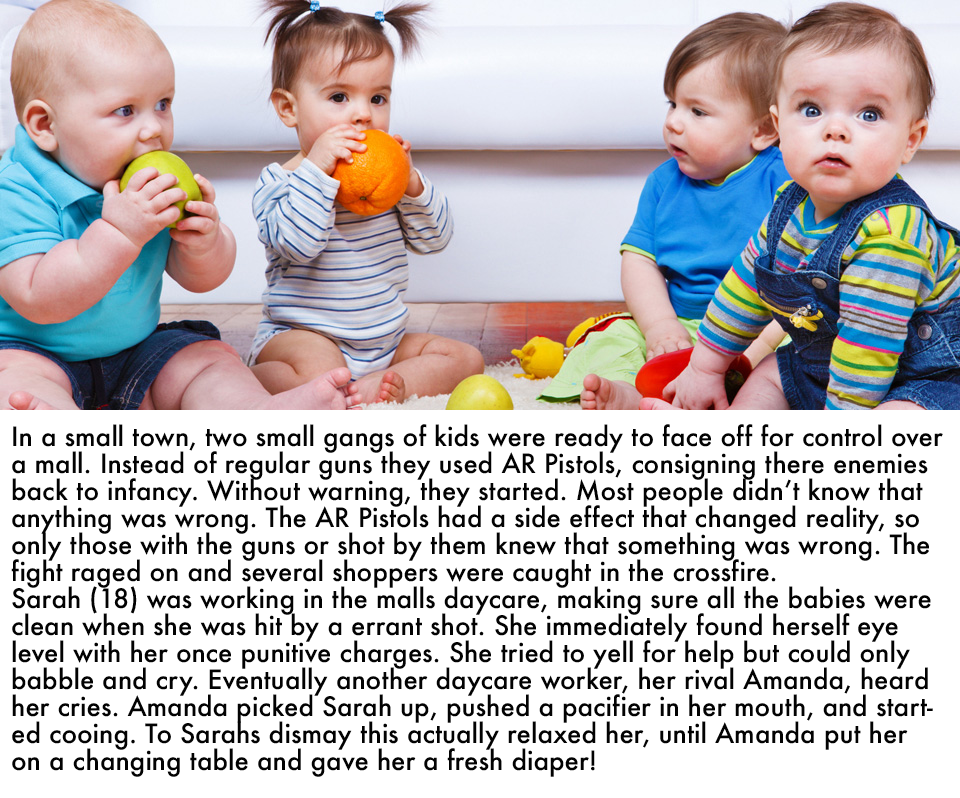 adult age regression baby story