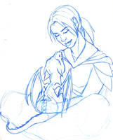WoW - Cheyll and Pthalo sketch by Doublevisionary