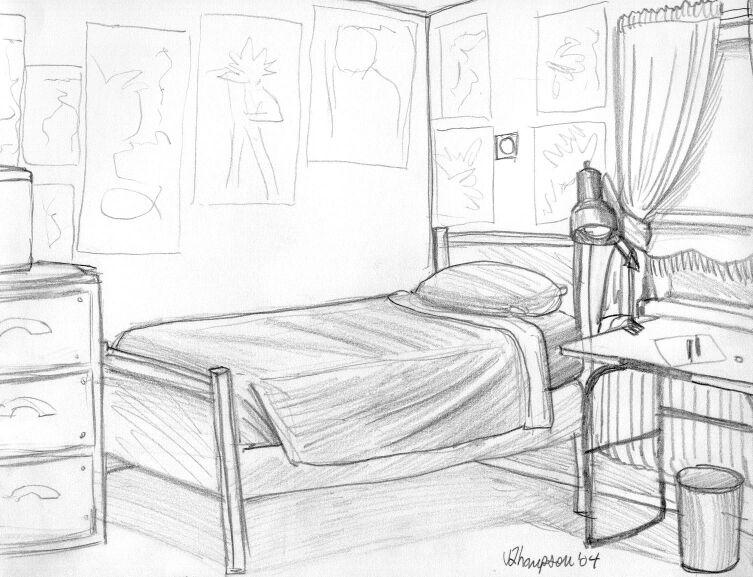 Second perspective of my room by doublevisionary on deviantart for Draw my room