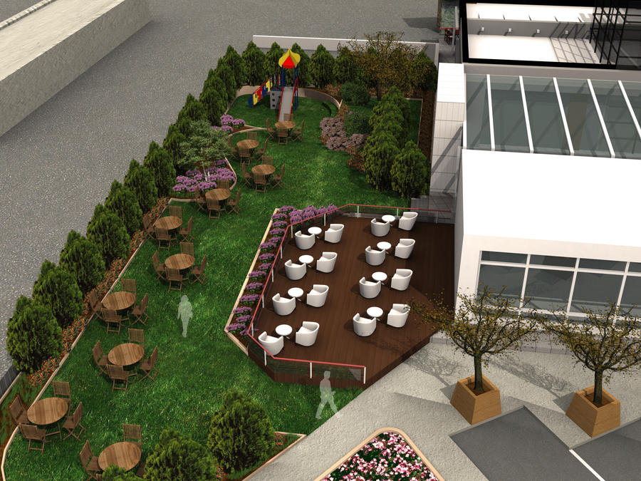 Restaurant landscape 3ds 3 by sirreal85 on deviantart for Garden design in 3ds max