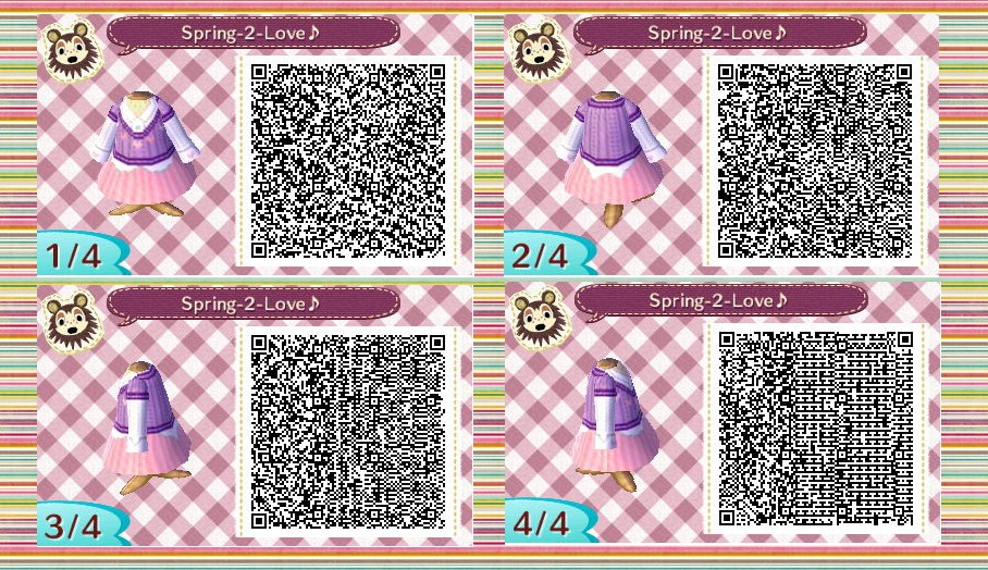 Animal Crossing: New Leaf QR code outfit 2 by Rasberry-Jam ...