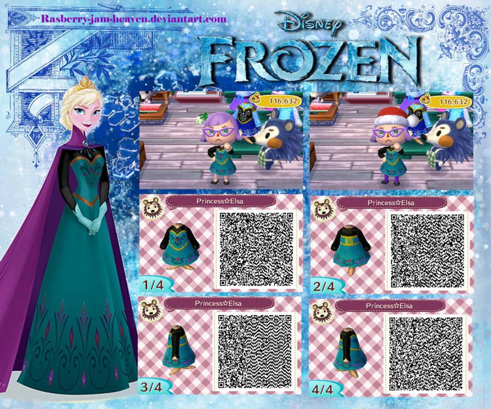 Animal Crossing : New Leaf QR (Elsa from Frozen) by Rasberry-Jam-Heaven