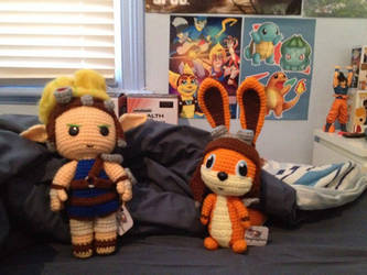 Jak and Daxter dolls by SavageBolt95