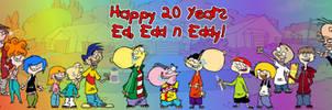 Ed, Edd n Eddy 20th Anniversary by SavageBolt95