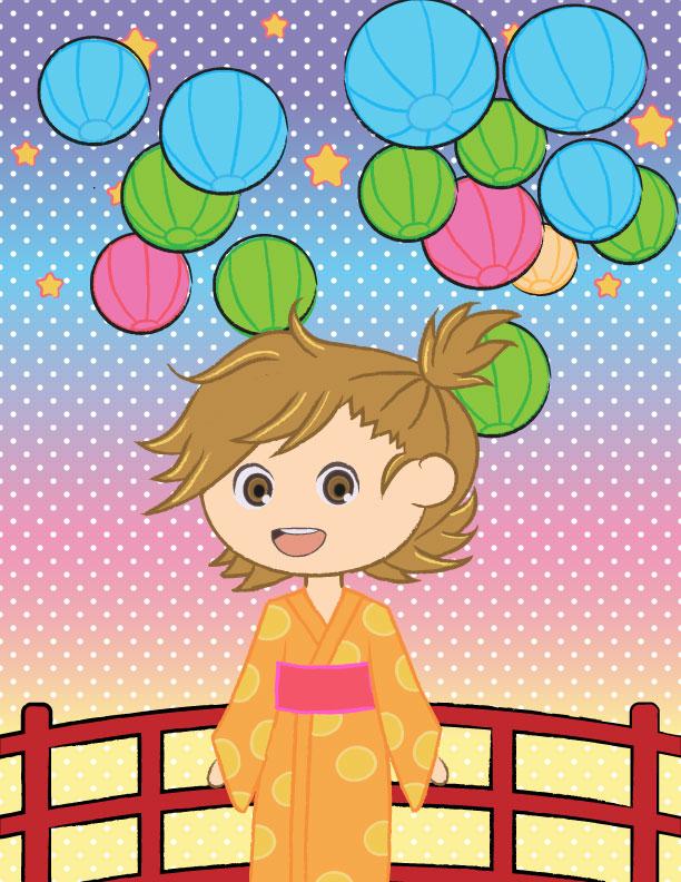 Naru Kotoishi Barakamon Yukata Chibi by ShinigamiSoiree