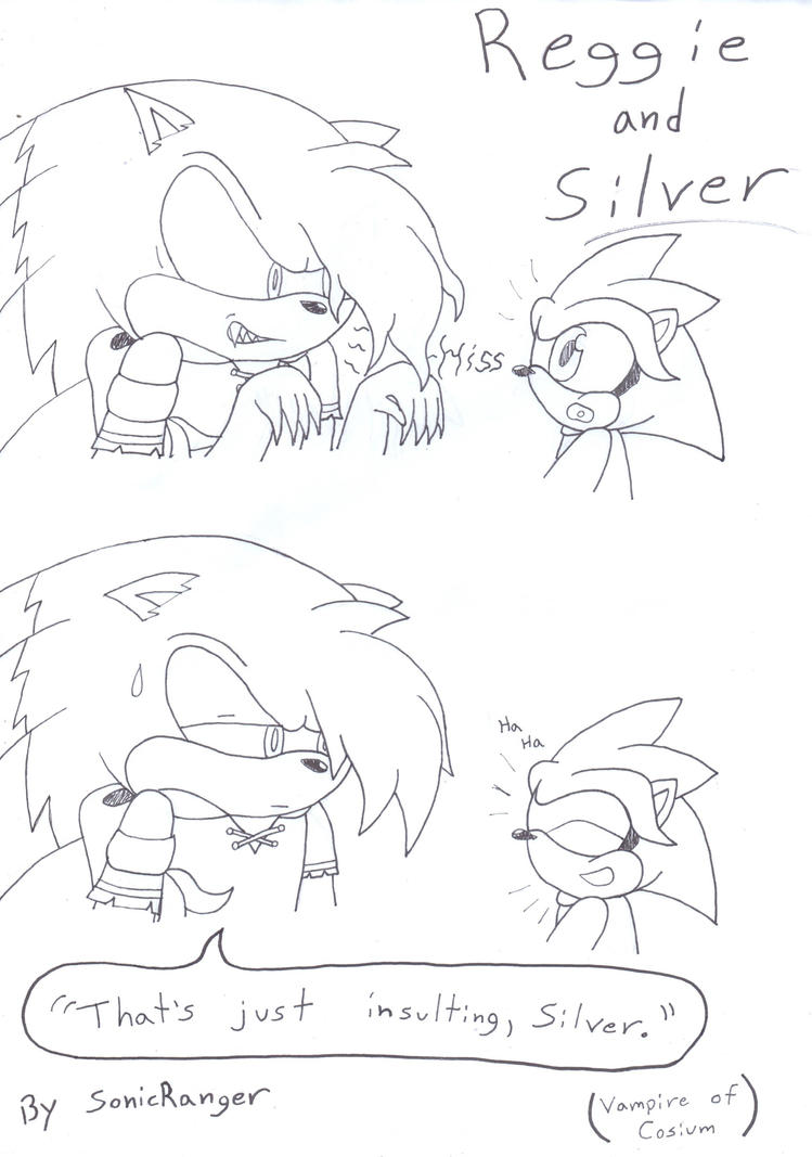 Vampire of Cosium - Reggie and Silver - Insulted by SonicRanger-1