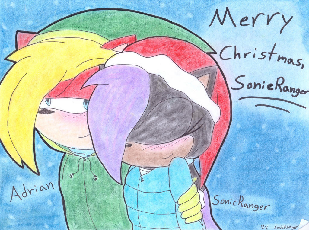 SR and Adrian - Merry Christmas! by SonicRanger-1