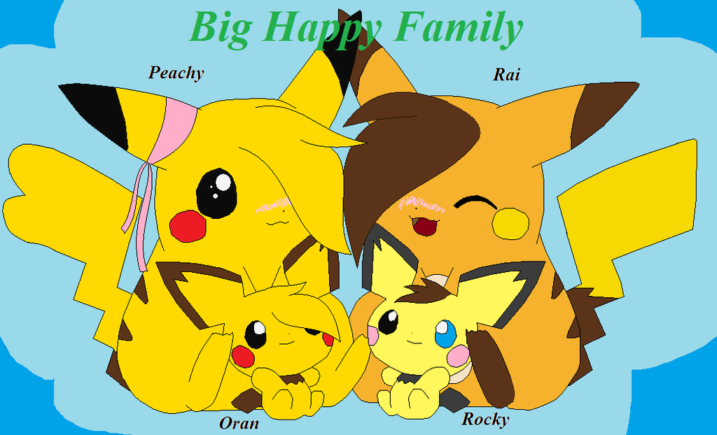 Big Happy Family ~ Rai and Peachy by SonicRanger-1