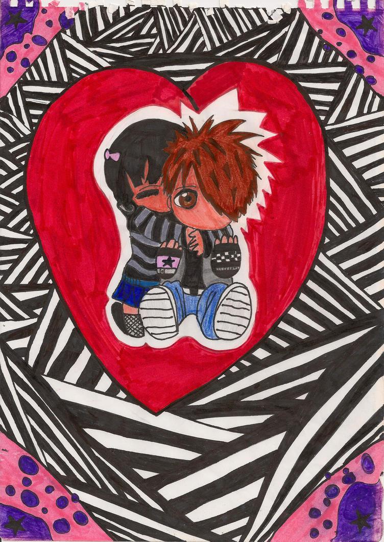 emo love by kissedrain
