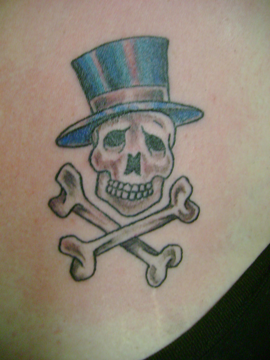 Traditional Skull And Crossbones Tattoo
