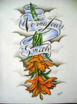 tiger lilly tattoo design