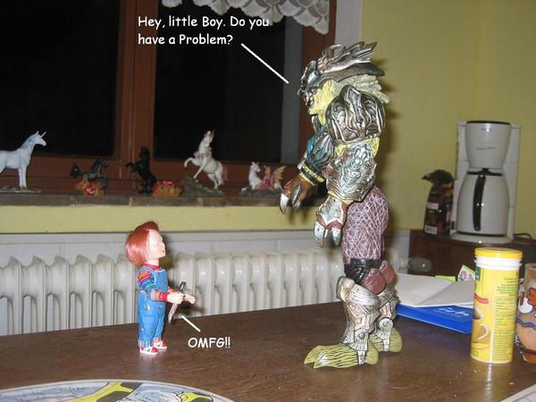 Dumah meets Chucky by FerretKain