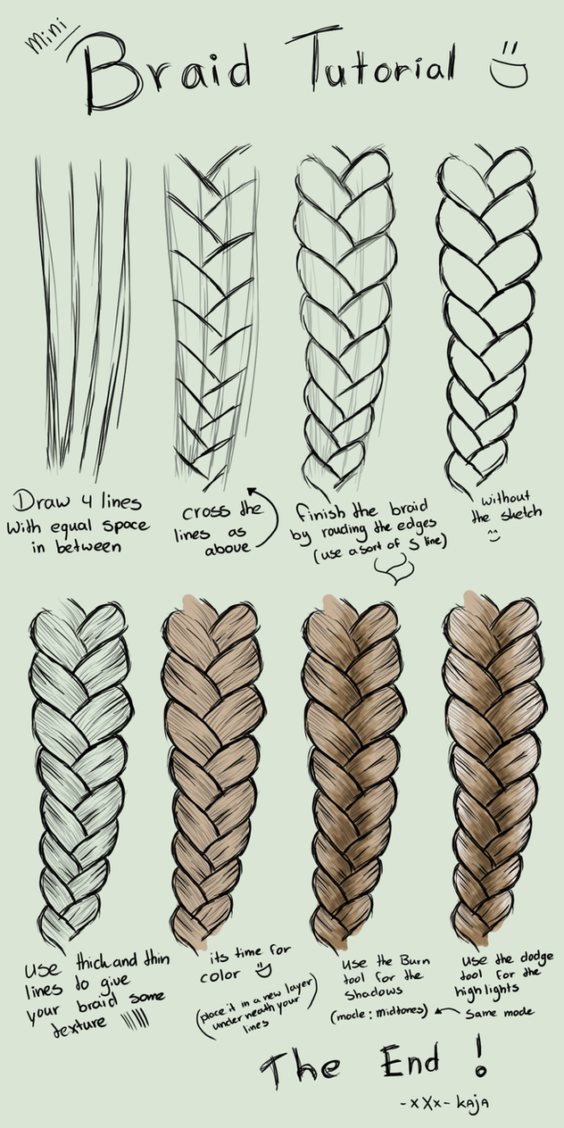 mini braid tutorial by kajanijssen on deviantart