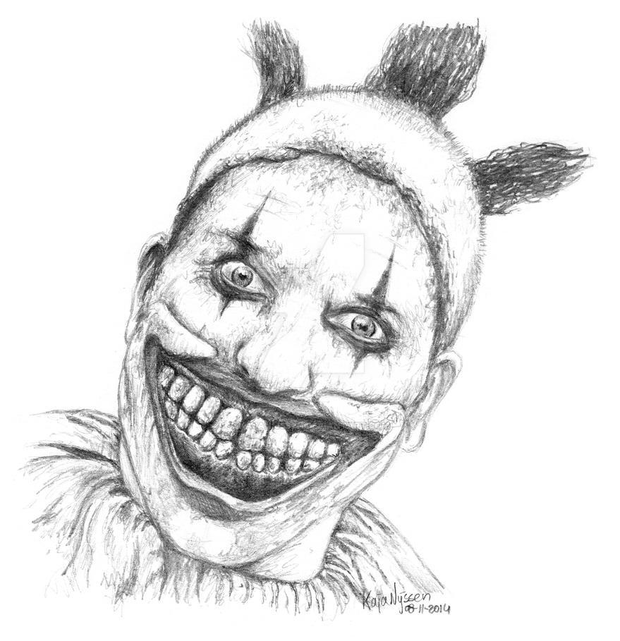 Scary Clown Drawing: Twisty The Clown By KajaNijssen On DeviantArt